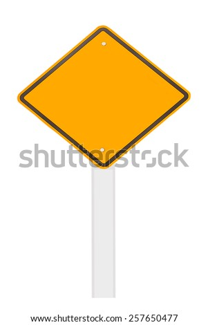 road sign isolate on white background. - stock photo