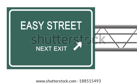 Road sign to  easy street - stock photo