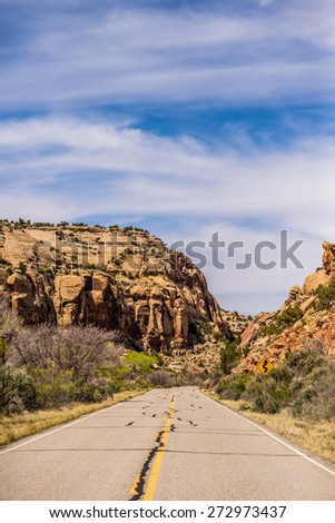 Road to Canyonlands National Park - stock photo