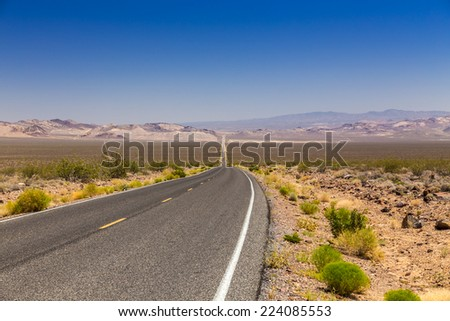 Road to Death Valley National Park - stock photo
