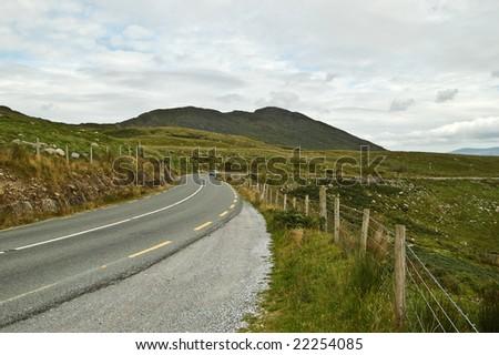 road to Killarney - stock photo