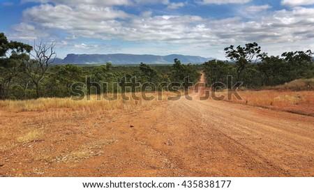 road to  Mount Mulligan near Cairns Australia - stock photo