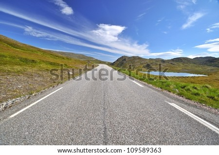 Road to Nordkapp/Northcape, Norway - stock photo