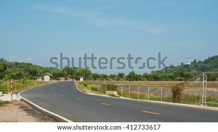 Road to Phuket airport , Thailand - stock photo