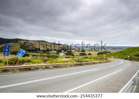 Road to The Great Ocean Road  - stock photo