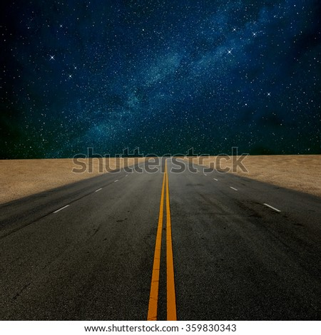 Road to the nice sky - stock photo