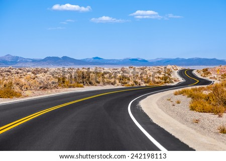 road trip, USA - stock photo