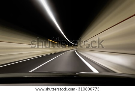 Road Tunnel - Stock Image - stock photo