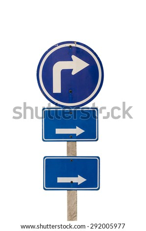 road warning sign isolated on white. Includes clipping path. - stock photo