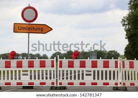 roadblock - stock photo