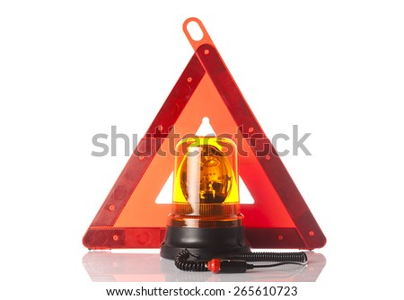 roadside assistance items - stock photo