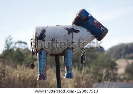 Roadside letter box. Country NSW. Australia. - stock photo