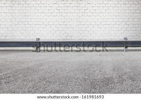 Roadside street view  background - stock photo