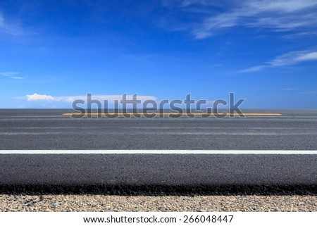Roadside view - stock photo