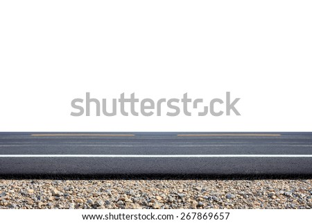 Roadside view - stock photo