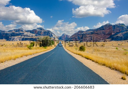 Roadtrip in Madagaskar in the Wilderness - stock photo
