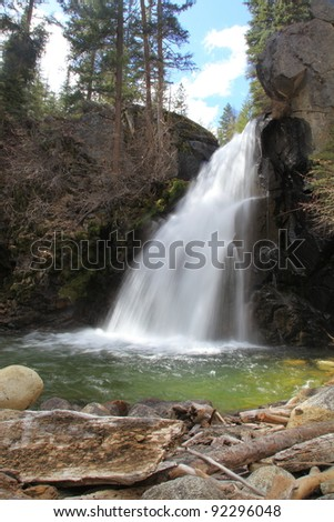Roaring Waterfall - stock photo
