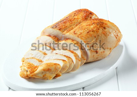 Roast chicken breast  - stock photo