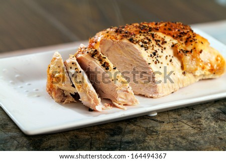 Roast turkey crown - stock photo