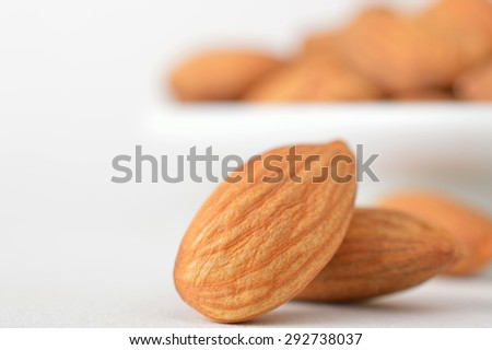 Roasted almonds - stock photo