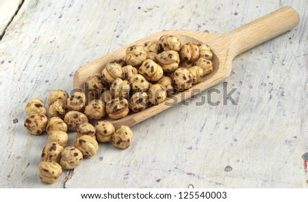 roasted chickpeas - stock photo