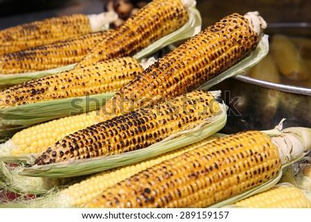 Roasted Corn in Istanbul. Turkey  - stock photo