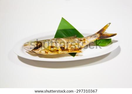 roasted fish - stock photo