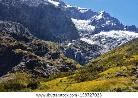 Rob Roy Glacier, New Zealand - stock photo