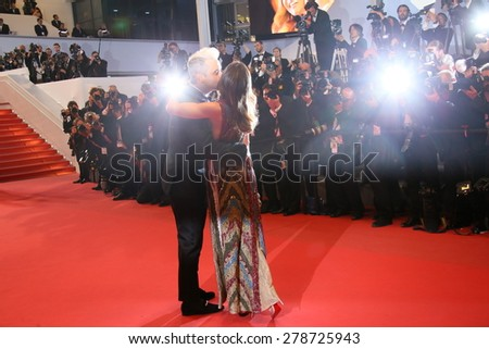 Robbie Williams and Ayda Field attend the premiere of 'The Sea Of Trees' during the 68th annual Cannes Film Festival on May 16, 2015 in Cannes, France. - stock photo