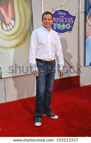 """Robert A. Iger at the """"The Princess And The Frog"""" World Premiere, Walt Disney Studios, Burbank, CA. 11-15-09 - stock photo"""