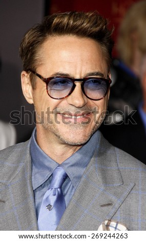 Robert Downey Jr at the World premiere of Marvel's 'Avengers: Age Of Ultron' held at the Dolby Theatre in Hollywood, USA on April 13, 2015. - stock photo