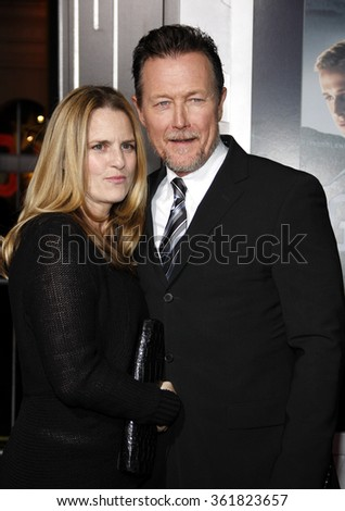 "Robert Patrick and Barbara Patrick at the Los Angeles premiere of ""Gangster Squad"" held at the Grauman's Chinese Theatre in Los Angeles, USA on January 7, 2013. - stock photo"