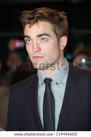 "Robert Pattinson arriving for the ""The Twilight Saga: Breaking Dawn Part 2"" premiere at the Odeon Leicester Square, London. 14/11/2012 Picture by: Henry Harris - stock photo"