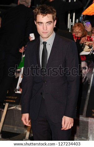 """Robert Pattinson arriving for the """"The Twilight Saga: Breaking Dawn Part 2"""" premiere at the Odeon Leicester Square, London. 14/11/2012 Picture by: Steve Vas - stock photo"""