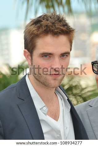 "Robert Pattinson at the photocall for his new movie ""Cosmopolis"" in competition at the 65th Festival de Cannes. May 25, 2012  Cannes, France Picture: Paul Smith / Featureflash - stock photo"