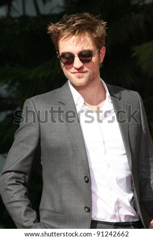 Robert Pattinson at the 'Twilight' Hand and Footprint Ceremony, Chinese Theater, Hollywood, CA 11-03-11 - stock photo