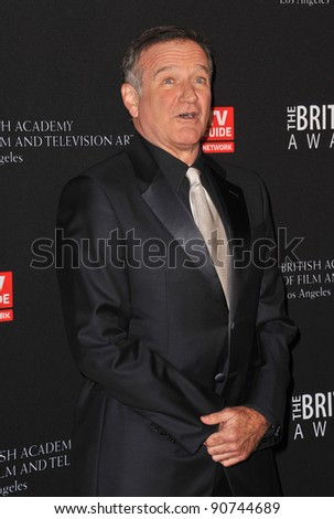 Robin Williams at the 2011 BAFTA/LA Britannia Awards at the Beverly Hilton Hotel. November 30, 2011  Beverly Hills, CA Picture: Paul Smith / Featureflash - stock photo