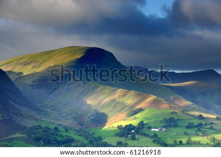 Robinson and the Newlands Valley in the English Lake District - stock photo