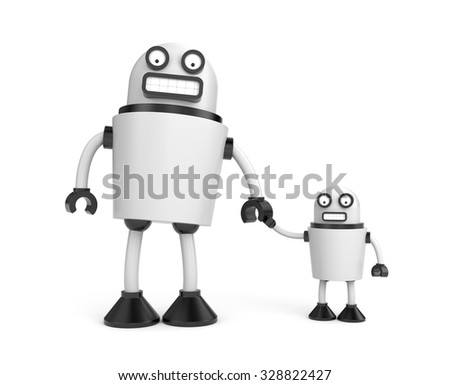Robo family - stock photo