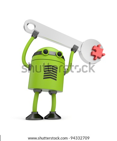 Robot at work - stock photo