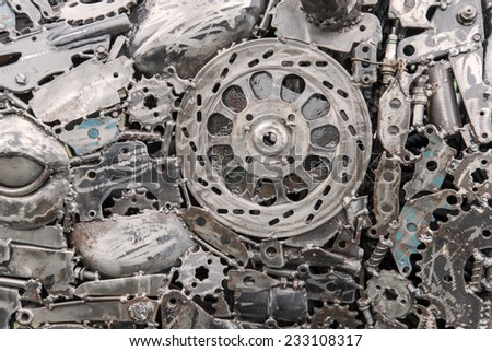 Robot Mechanical ratchets bolts and nuts. - stock photo