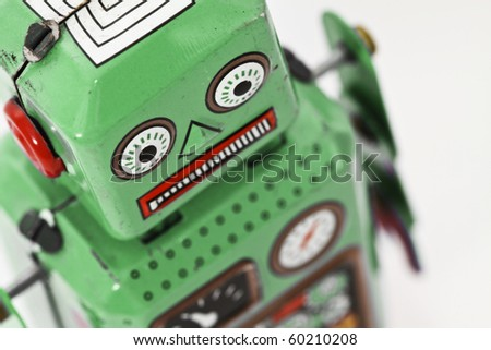 robot toy - stock photo