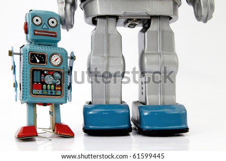 robot toys - stock photo