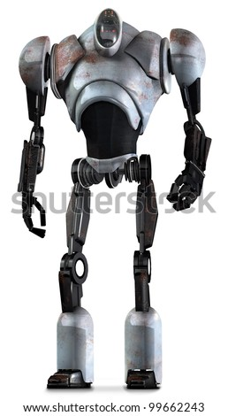 Robot Warrior Gunmetal - stock photo