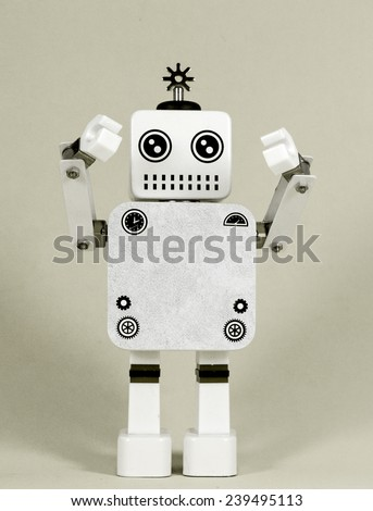 robot with copy space  - stock photo