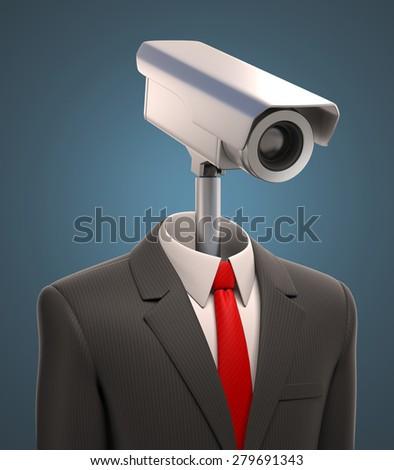 robotic security camera - stock photo