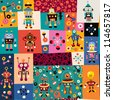 robots pattern - stock photo