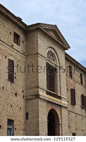Rocca Meli Lupi of Soragna. Emilia-Romagna. Italy. - stock photo