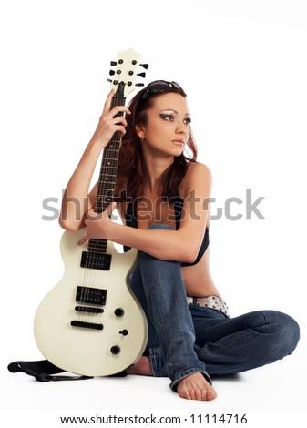 Rock Chick - stock photo
