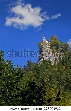rock church riederstein chapel near tegernsee, bavaria - stock photo